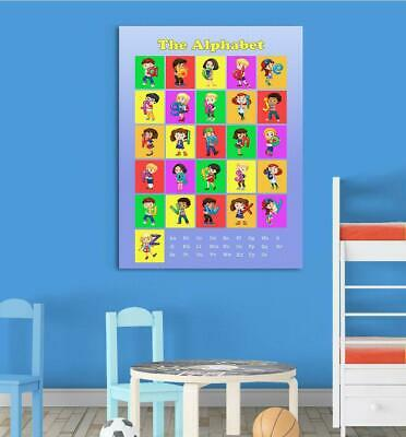 Learn The Alphabet - Blue Childrens Wall Chart Educational Childs Poster