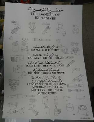 NATIONAL GUARD POSTER ON ENEMY EXPLOSIVES AND IEDs  #MISC991