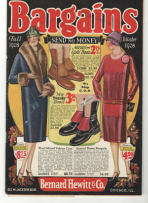 Vintage 1928 F&w Chicago Flapper Fashion Clothing Catalog! Dresses/shoes/hats!