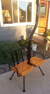 Antique Ski Lift Chair Swing with Hanging Bracket or Bench Legs  FREE SHIPPING.