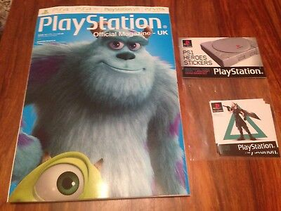 PlayStation Official Magazine #147 April 2018 (LE cover) + PS1 Heroes Stickers