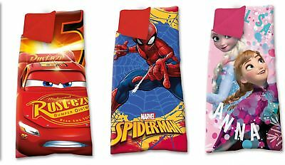 Disney Schlafsack Kinderschlafsack Decke, Cars, Spiderman, Frozen 140x70cm