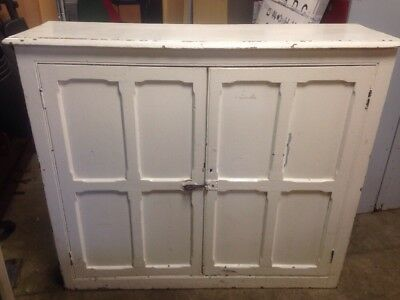 old school pitch pine cupboard