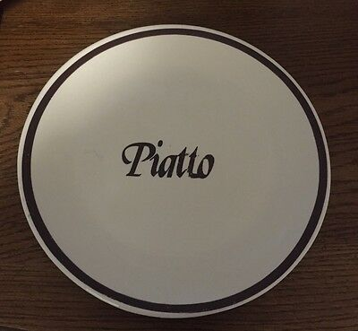 """Vintage McCOY Pottery 12-1/2"""" Piatto Platter Rustic Italian Country Made In USA"""