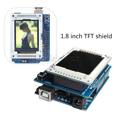 """1.8"""" inch TFT LCD Shiled Adapter Board for Arduino UNO R3 TFTLCD Display IDE"""