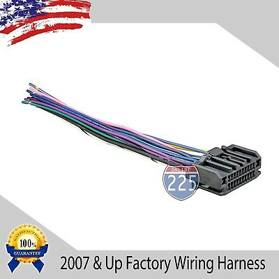 CAR STEREO WIRING Harness with Antenna for Chrysler Dodge ... on jeep alpine, jeep transmission harness, jeep tow bar wiring harness, jeep subwoofer, jeep alternator, jeep engine wiring harness, jeep ignition lock, jeep trailer hitch wiring harness, jeep dvd player, jeep compass wiring harness,