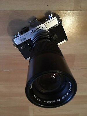 Canon FT QL mit 100-200mm Zoom Objektiv