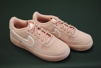 [Ao2285 600] New Nike Kid's Gs Air Force 1 Lv8 Suede Red Stardust Pink K3469