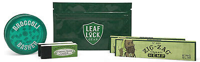 Zig Zag Green King Size Rolling Paper with Organic Tips and MORE