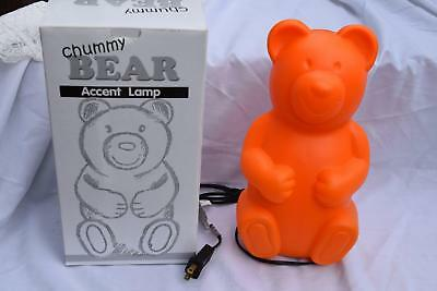 NEW Gummy Chummy Orange Bear Lamp Nightlight