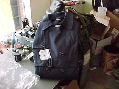 US AIR FORCE MENS BLUE ALL WEATHER TRENCH COAT 40 short MILITARY