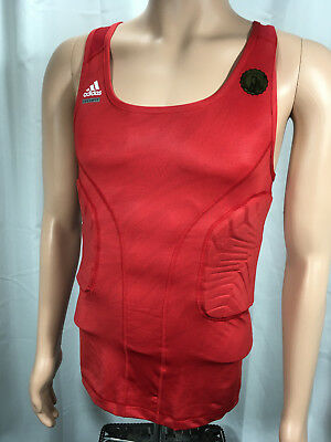 ADIDAS TECHFIT CLIMACOOL Padded Compression System Red Mens