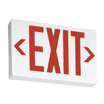 Thermoplastic White LED Emergency Exit Sign