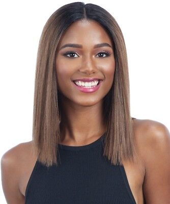 Harmony 115 - Milkyway Human Hair Blend Lace Front Wig Bob Blunt Cut