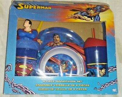 Superman 6 Piece Dinnerware set by ZAK New in Package Free Shipping