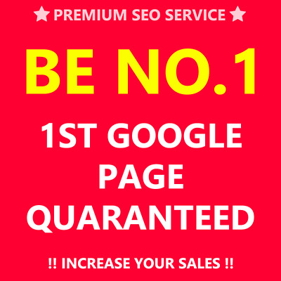Google TOP 10 1st Page Guaranteed Full SEO Keywords High Results Proof Backlinks