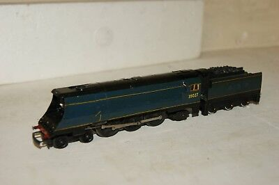 TT gauge 3mm REPAINTED Tri-ang Merchant Navy BR Blue GOOD RUNNER