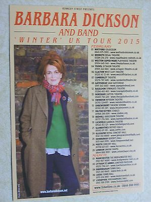 Barbara Dickson 2015 UK Tour Handbill/Leaflet