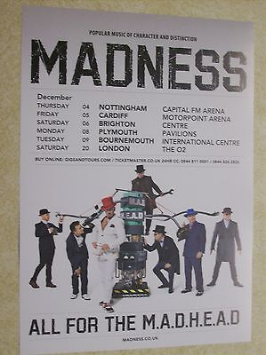 Madness December 2014 UK Tour Handbill/Leaflet