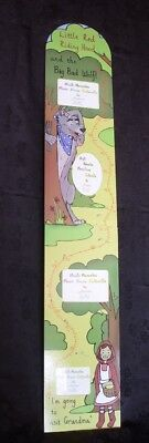 Height Chart Little Red Riding Hood MDF for photos GIVE AWAY END OF LINE PRICE