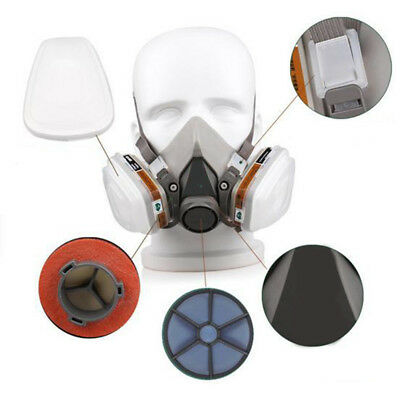 AL_ Set 7 in 1 6200 Gas half Face Mask Spray Painting Protection Respirator love