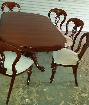 Dining table and chairs antique reproduction insert to extend table length