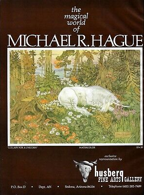 1981 Michael R Hague Art Lullaby For Unicorn Gallery Vintage Print Ad