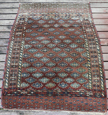 Superb Antique Hand Knotted Yomud Rug Turkoman  West Turkestan Circa 1870'S