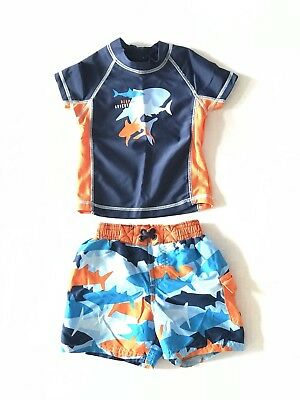 Carter's 2-Piece Swim Shirt And Swim Trunks Infant Boys Size 18 Months
