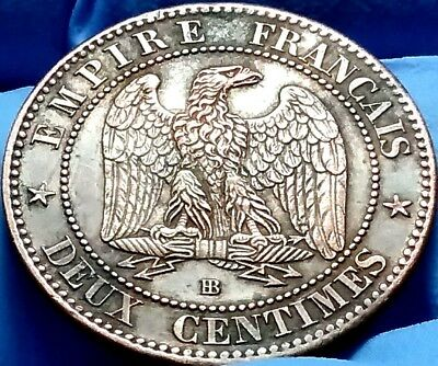 1862 BB French Empire, France Napoleon Empereur Deux Centimes frankyd360 #ac630