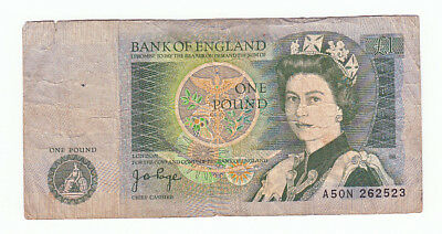 BANK OF ENGLAND ONE POUND BANKNOTE #377a