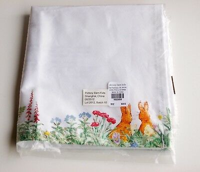 POTTERY BARN KIDS Beatrix Potter Peter Rabbit Easter Napkins Bunny Table Setting