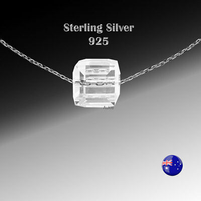 Bulk Sale -3 x Sterling Silver(925) Desinger Necklace with Crystal Charm Pendant