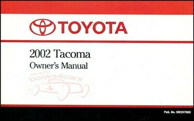 2017 toyota tacoma owner s owners owner manual audio manual rh picclick com 2002 toyota tacoma service manual pdf 2002 tacoma owners manual