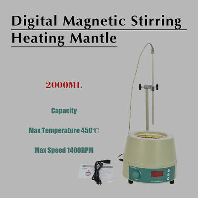 2000ML Electric Digital LCD Magnetic Stirring Heating Mantle Top Quality