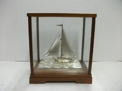 Sailboat of Silver of Japan. #48g/ 1.69oz.Japanese antique