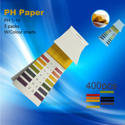 400x PH Test Strips Litmus Paper 1-14 Urine,Body,Soil,Food,Fish,Cosmetics 5 Pack