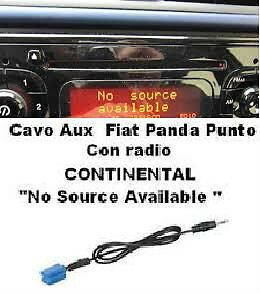 "Cavo AUX mp3 Fiat PUNTO/PANDA ""No source Available"""