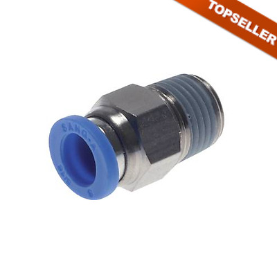 Pneumatic IQS Push-In Fitting with Inside and external hexagon, ALL SIZES