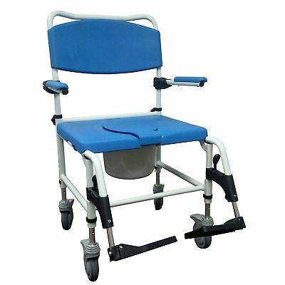 Drive Medical NRS185008 Bariatric Aluminum Rehab Shower Commode Chair with Two
