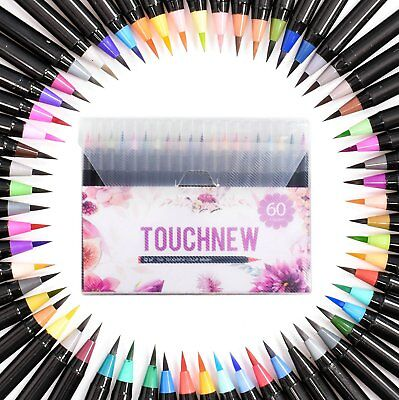 24 36 48 60 Colour Set Brush Watercolor Pen Craft Marker Artist Sketch Touch New