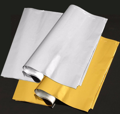 A4 Silver/Gold Transfer Foil Paper Leaf for Printer Machine Hot Laminator 50pcs