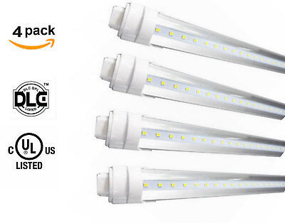 4-Pack T8/T12 8ft 2400mm 40W led tube equivalent 110W 5500K frosted cover R17d