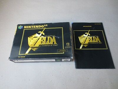 ✪ Zelda Ocarina of Time N64 PAL nur OVP + Anleitung Box + Manual only ✪