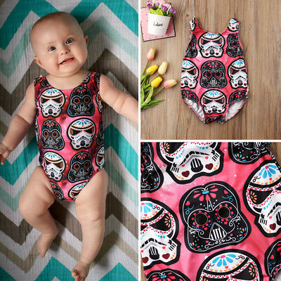 Newborn Toddler Baby Boy Girl Star Wars Bodysuit Romper Jumpsuit Outfit Clothes