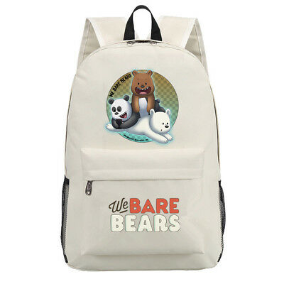 We bare bears Grizzly panda ice bear Backpack Scoolbag teenager Satchel Knapsack