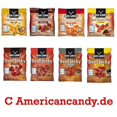 8x Jack Links Beef Jerky Jerky - 4 different kinds ( 8,00 €/ 100 g)