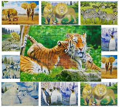 40x Puzzle groß Tiere Mix 70 tlg Mitgebsel Wurfmaterial Giveaway Tombola 594