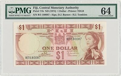 3776. Fiji, Central Monetary Authority • 1 Dollar (ND 1974) • PMG 64