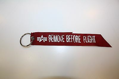 Alpha Industries RBF Key Ring 191907 Remove Before Flight Tag Schlüsselanhänger